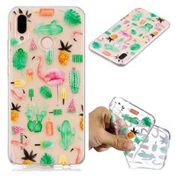 Cactus Flamingos Super Clear Soft TPU Back Cover for Huawei P20 Lite