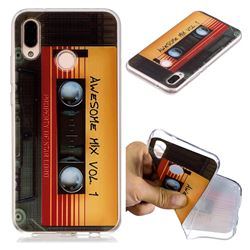Retro Cassette Tape Super Clear Soft TPU Back Cover for Huawei P20 Lite