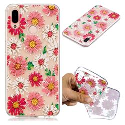 Chrysant Flower Super Clear Soft TPU Back Cover for Huawei P20 Lite