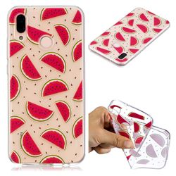 Red Watermelon Super Clear Soft TPU Back Cover for Huawei P20 Lite