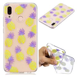 Carton Pineapple Super Clear Soft TPU Back Cover for Huawei P20 Lite