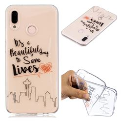 Line Castle Super Clear Soft TPU Back Cover for Huawei P20 Lite