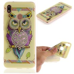 Weave Owl IMD Soft TPU Back Cover for Huawei P20 Lite