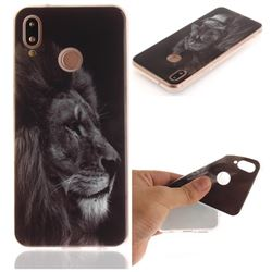 Black Lion IMD Soft TPU Back Cover for Huawei P20 Lite