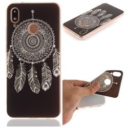 Black Wind Chimes IMD Soft TPU Back Cover for Huawei P20 Lite