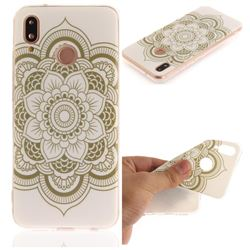 White Flowers IMD Soft TPU Back Cover for Huawei P20 Lite