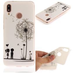 Couple Dandelion IMD Soft TPU Back Cover for Huawei P20 Lite