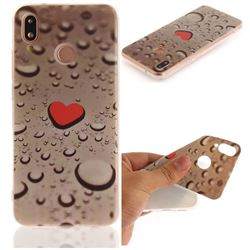 Heart Raindrop IMD Soft TPU Back Cover for Huawei P20 Lite