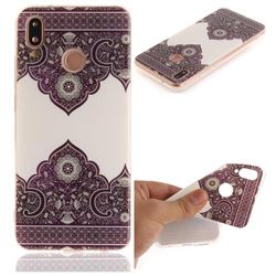Diagonal Totem IMD Soft TPU Back Cover for Huawei P20 Lite