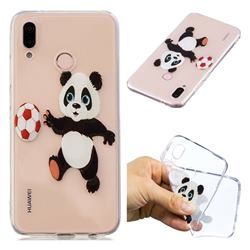 Football Panda Super Clear Soft TPU Back Cover for Huawei P20 Lite