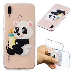 Baby Panda Super Clear Soft TPU Back Cover for Huawei P20 Lite
