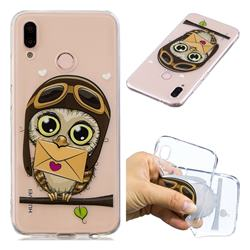 Envelope Owl Super Clear Soft TPU Back Cover for Huawei P20 Lite