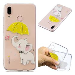 Umbrella Elephant Super Clear Soft TPU Back Cover for Huawei P20 Lite
