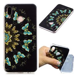 Circle Butterflies Super Clear Soft TPU Back Cover for Huawei P20 Lite