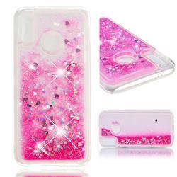 Dynamic Liquid Glitter Quicksand Sequins TPU Phone Case for Huawei P20 Lite - Rose