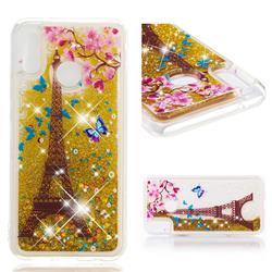 Golden Tower Dynamic Liquid Glitter Quicksand Soft TPU Case for Huawei P20 Lite