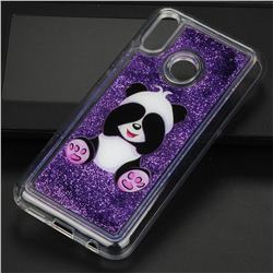 Naughty Panda Glassy Glitter Quicksand Dynamic Liquid Soft Phone Case for Huawei P20 Lite