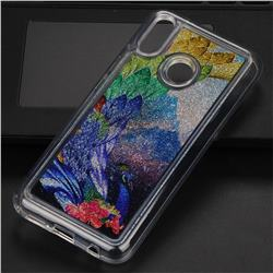 Phoenix Glassy Glitter Quicksand Dynamic Liquid Soft Phone Case for Huawei P20 Lite