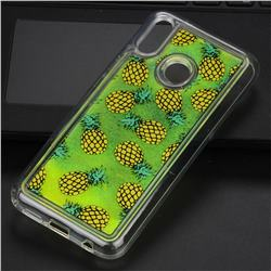 Pineapple Glassy Glitter Quicksand Dynamic Liquid Soft Phone Case for Huawei P20 Lite