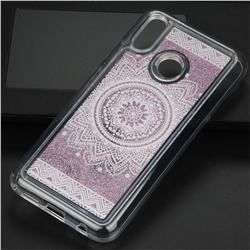 Mandala Glassy Glitter Quicksand Dynamic Liquid Soft Phone Case for Huawei P20 Lite