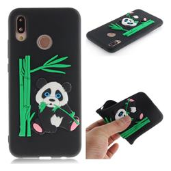 Panda Eating Bamboo Soft 3D Silicone Case for Huawei P20 Lite - Black