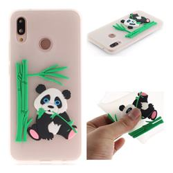 Panda Eating Bamboo Soft 3D Silicone Case for Huawei P20 Lite - Translucent