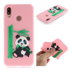 Panda Eating Bamboo Soft 3D Silicone Case for Huawei P20 Lite - Pink