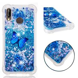 Flower Butterfly Dynamic Liquid Glitter Sand Quicksand Star TPU Case for Huawei P20 Lite