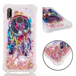 Seal Wind Chimes Dynamic Liquid Glitter Sand Quicksand Star TPU Case for Huawei P20 Lite