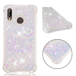 Dynamic Liquid Glitter Sand Quicksand Star TPU Case for Huawei P20 Lite - Pink