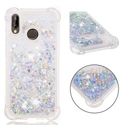 Dynamic Liquid Glitter Sand Quicksand Star TPU Case for Huawei P20 Lite - Silver