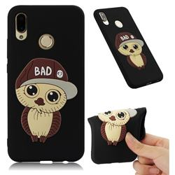Bad Boy Owl Soft 3D Silicone Case for Huawei P20 Lite - Black