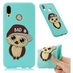 Bad Boy Owl Soft 3D Silicone Case for Huawei P20 Lite - Sky Blue