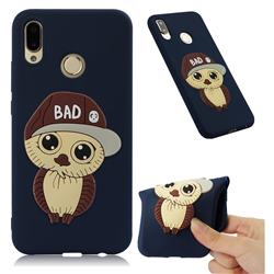 Bad Boy Owl Soft 3D Silicone Case for Huawei P20 Lite - Navy