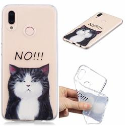 Cat Say No Clear Varnish Soft Phone Back Cover for Huawei P20 Lite