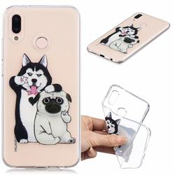 Selfie Dog Clear Varnish Soft Phone Back Cover for Huawei P20 Lite