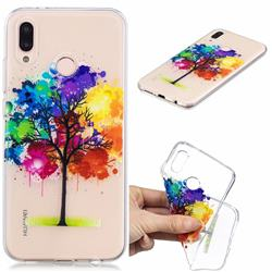 Oil Painting Tree Clear Varnish Soft Phone Back Cover for Huawei P20 Lite
