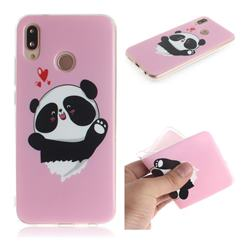 Heart Cat IMD Soft TPU Cell Phone Back Cover for Huawei P20 Lite