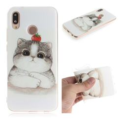 Cute Tomato Cat IMD Soft TPU Cell Phone Back Cover for Huawei P20 Lite