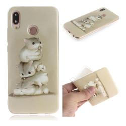 Three Squirrels IMD Soft TPU Cell Phone Back Cover for Huawei P20 Lite