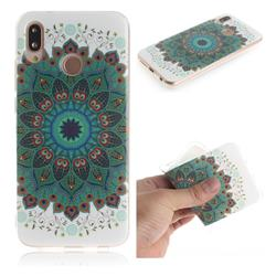 Peacock Mandala IMD Soft TPU Cell Phone Back Cover for Huawei P20 Lite