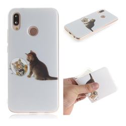 Cat and Tiger IMD Soft TPU Cell Phone Back Cover for Huawei P20 Lite