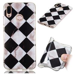 Black and White Matching Soft TPU Marble Pattern Phone Case for Huawei P20 Lite