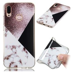 Black white Grey Soft TPU Marble Pattern Phone Case for Huawei P20 Lite