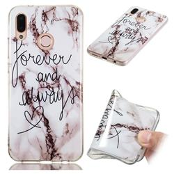 Forever Soft TPU Marble Pattern Phone Case for Huawei P20 Lite