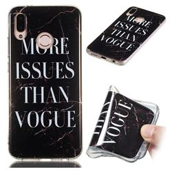 Stylish Black Soft TPU Marble Pattern Phone Case for Huawei P20 Lite