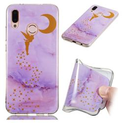 Elf Purple Soft TPU Marble Pattern Phone Case for Huawei P20 Lite