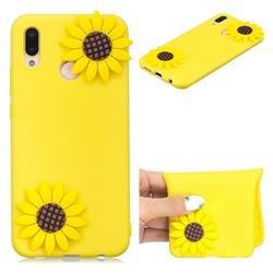 Yellow Sunflower Soft 3D Silicone Case for Huawei P20 Lite