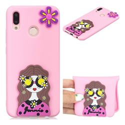 Violet Girl Soft 3D Silicone Case for Huawei P20 Lite