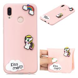 Kiss me Pony Soft 3D Silicone Case for Huawei P20 Lite